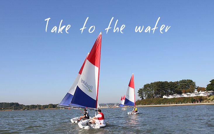 Sailing in Poole Park