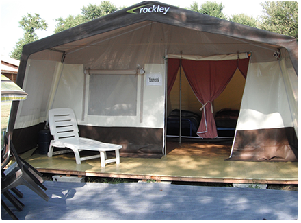Rockley tent accomodation