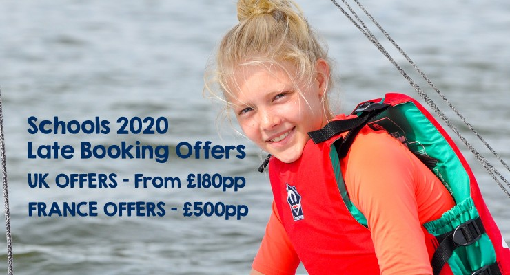 Schools 2020 Late Booking offers
